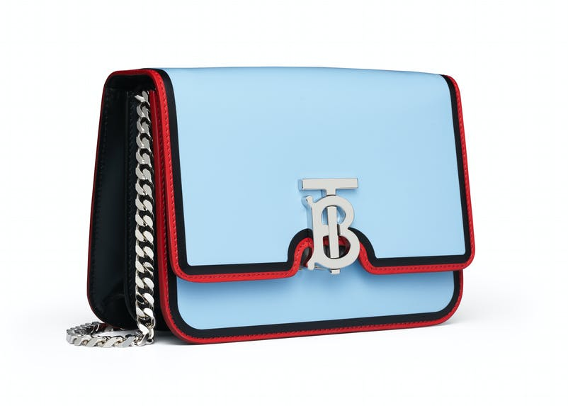 Pale blue TB bag with red trim and chain strap (2).jpg
