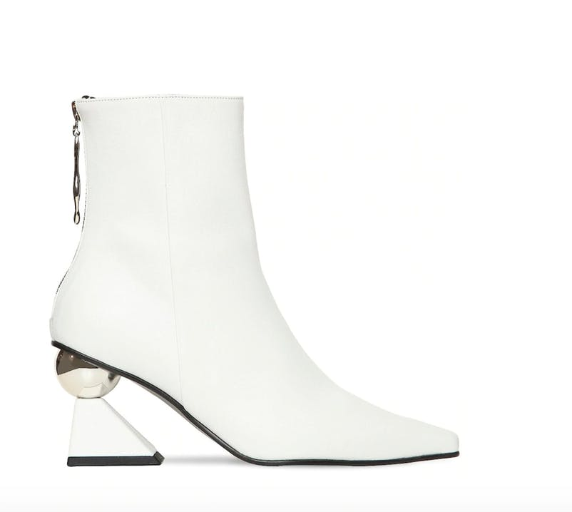 The sculptural heel makes the boot from Yuul Wie a tour masterpiece.