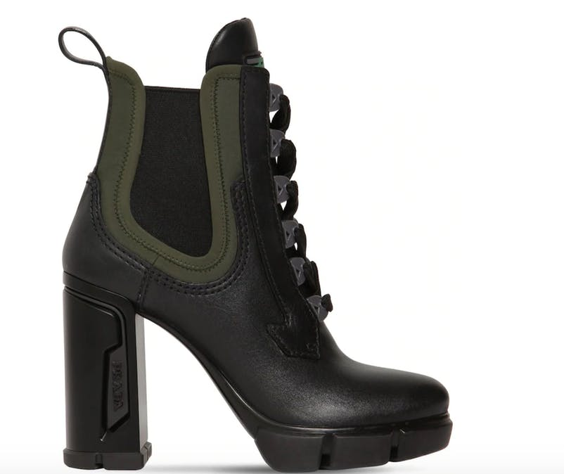 Eyecatcher: Prada goes for a bold statement-boot.