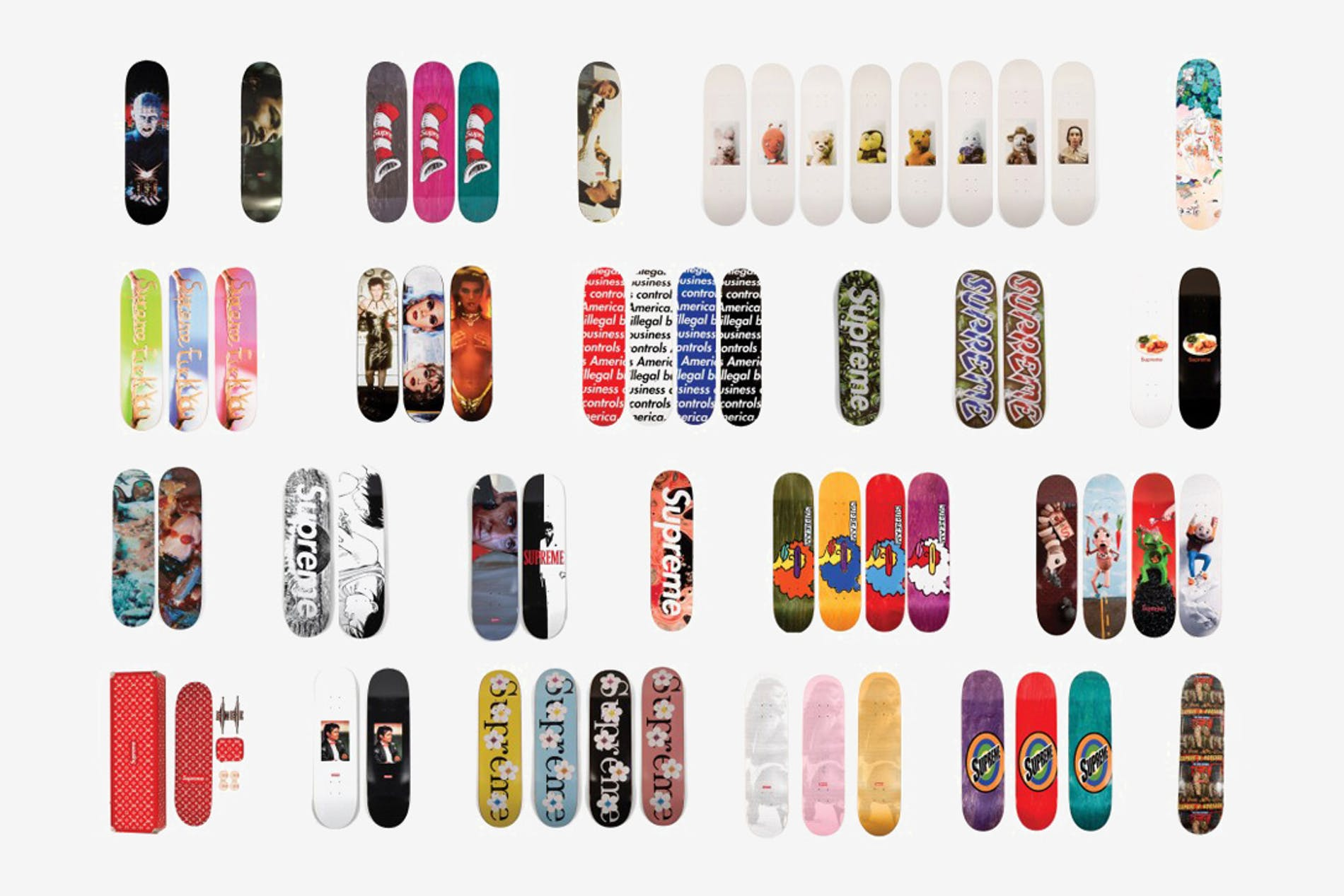1548065059066505 20 years of supreme skateboard collection 2