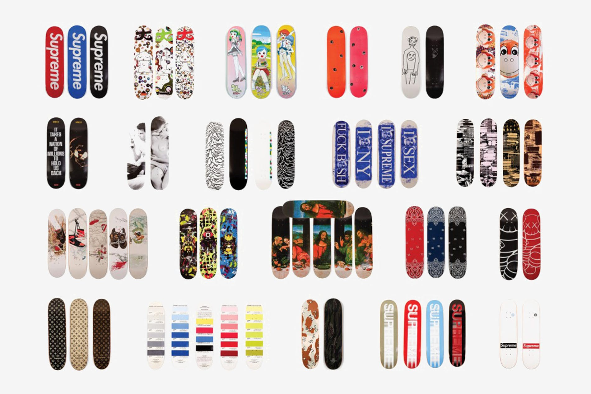 1548065059572486 20 years of supreme skateboard collection 4