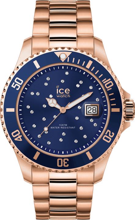 Montre blue cosmos rose gold, 169 €.