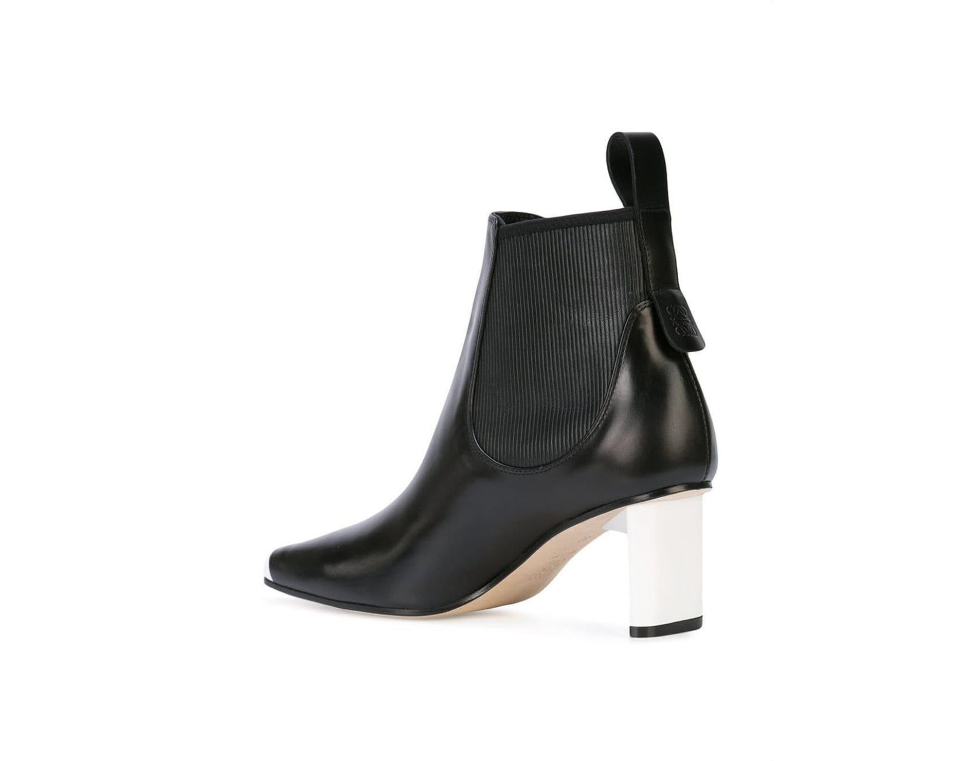 1564056084625236 loewe black square toe ankle boots