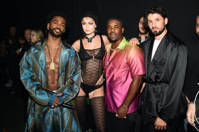 Big Sean, Cara Delevingne et A$AP Ferg © Ilya S. Savenok/Getty Images