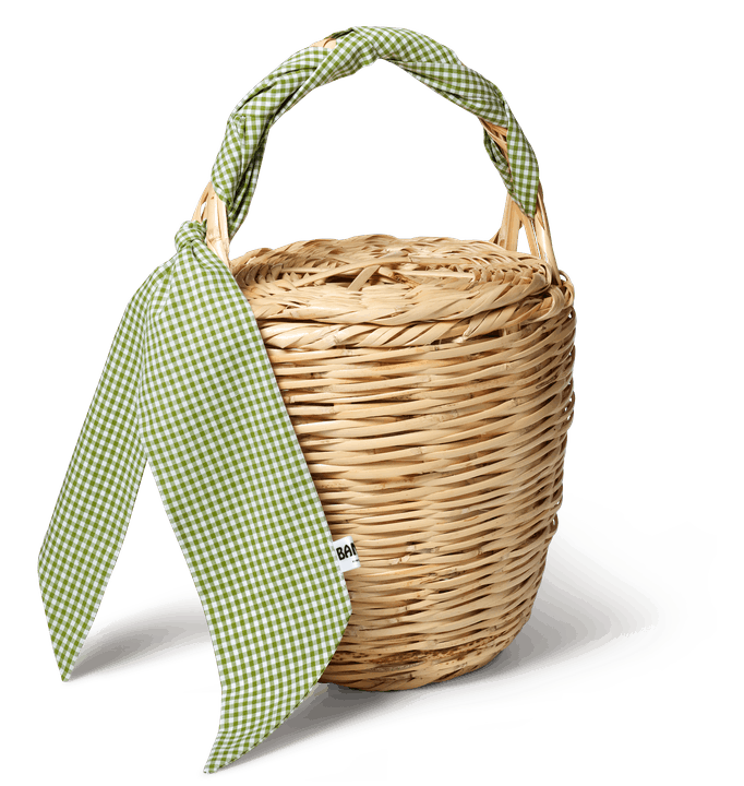 Bangs Vintage - Classic Check Green Birkin Basket with shadow.png