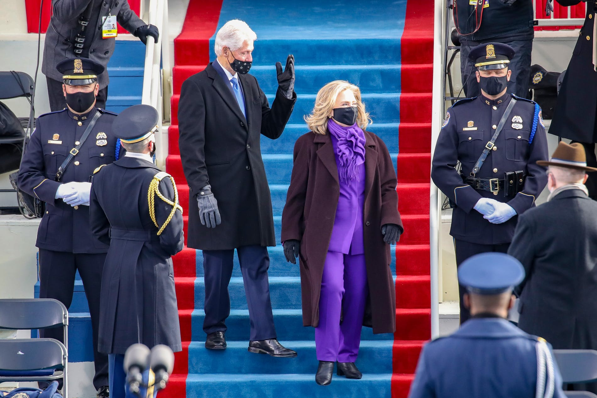1611214326467506 hillary clinton purple inauguration day outfit