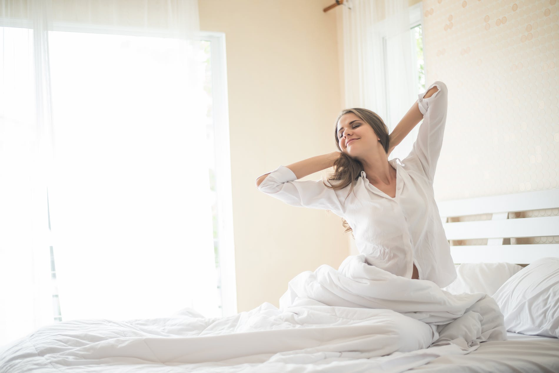 1615457502779852 lazy young woman sitting bedroom