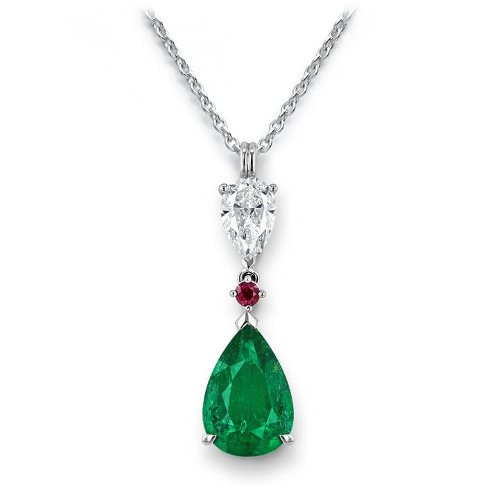 Gubelin_Drops of Water_Emerald Colombia_White Gold Necklace.tif