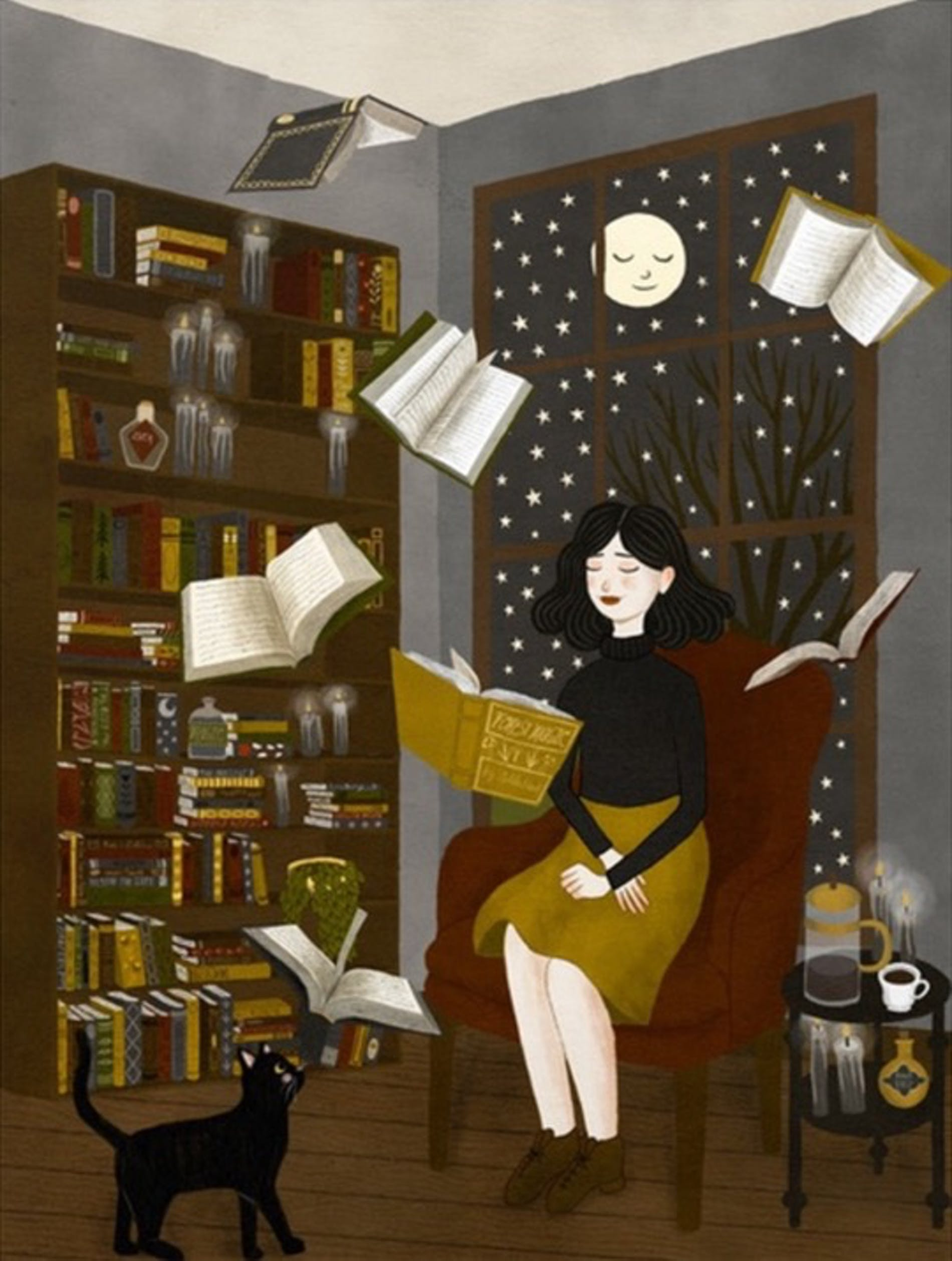 1631614492272008 illustrations about books annya marttinen reading at home